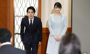 Công chúa Nhật Bản cùng chồng chính thức ra mắt công chúng