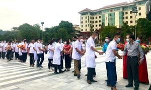 Lần thứ 3, Hà Giang tăng cường thầy thuốc đến TP. Hồ Chí Minh chống dịch COVID-19