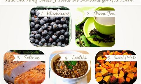 5 thực phẩm tuyệt vời cho làn da