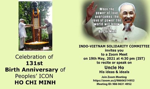 Ủy ban Đoàn kết Ấn Độ-Việt Nam kỷ niệm ngày sinh nhật Bác