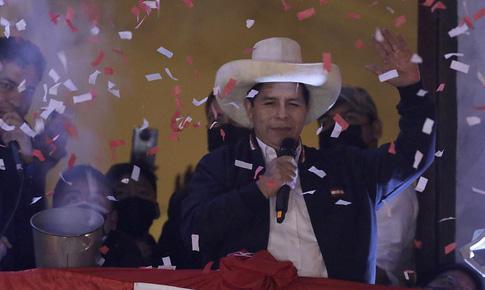 Thầy giáo Pedro Castillo trở thành Tổng thống đắc cử của Peru