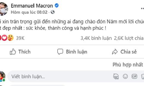 Tổng thống Pháp nhận bão like sau khi đăng tải lời chúc Tết bằng tiếng Việt lên mạng xã hội
