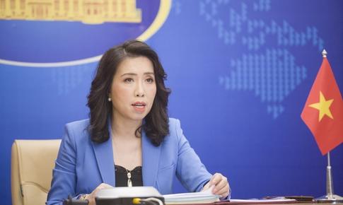 Việt Nam yêu cầu các bên liên quan tôn trọng chủ quyền của Việt Nam, tôn trọng luật pháp quốc tế