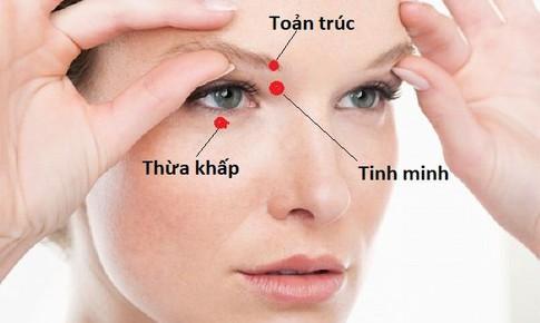Xoa bóp bấm huyệt phòng chống nhức mỏi mắt
