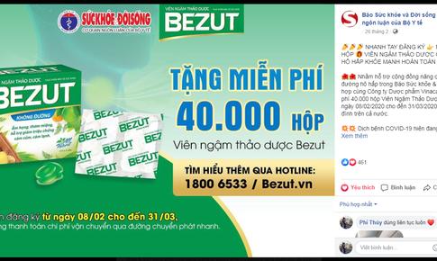 Gần 30.000 sản phẩm HOBezut tăng cường sức khỏe hô hấp đã đến tay người dân mùa dịch