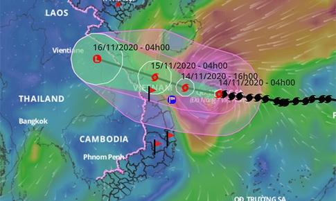 Bão số 13 áp sát vùng biển Quảng Bình - Quảng Ngãi, giật cấp 17- cực kỳ nguy hiểm